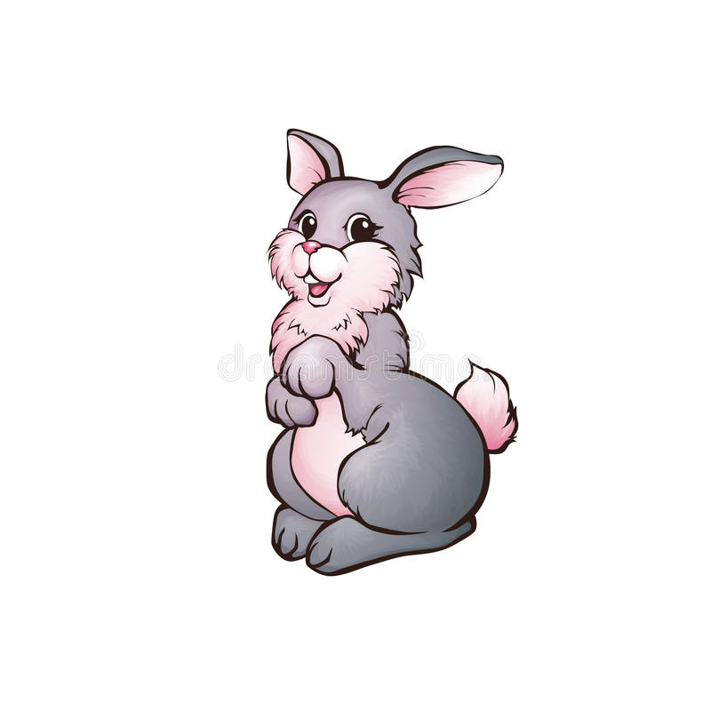 Иллюстрация вектора зайцев в стиле шаржа бесплатная иллюстрация