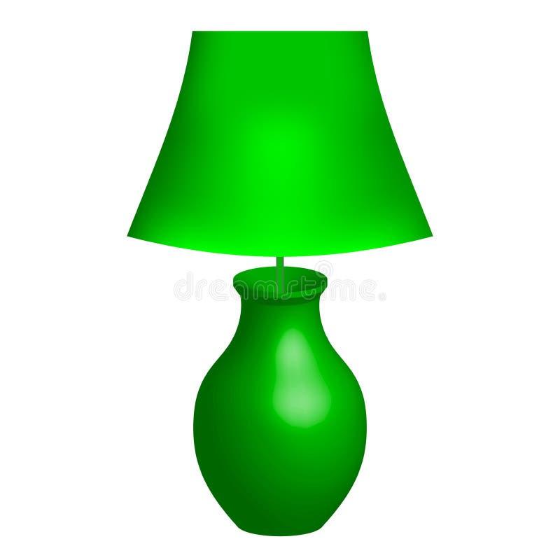 Зеленый светильник иллюстрация вектора