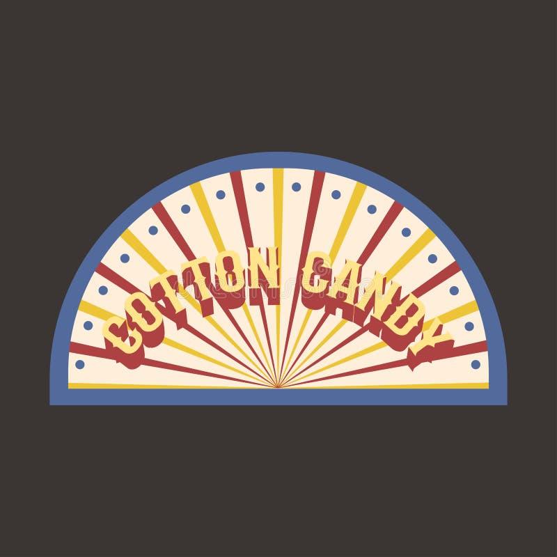 Иллюстрация вектора знамени ярлыка хлопка конфеты цирка винтажная бесплатная иллюстрация