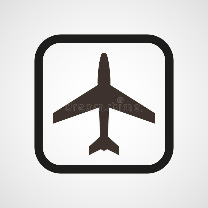 Иллюстрация вектора значка воздушных судн плоская простая иллюстрация штока