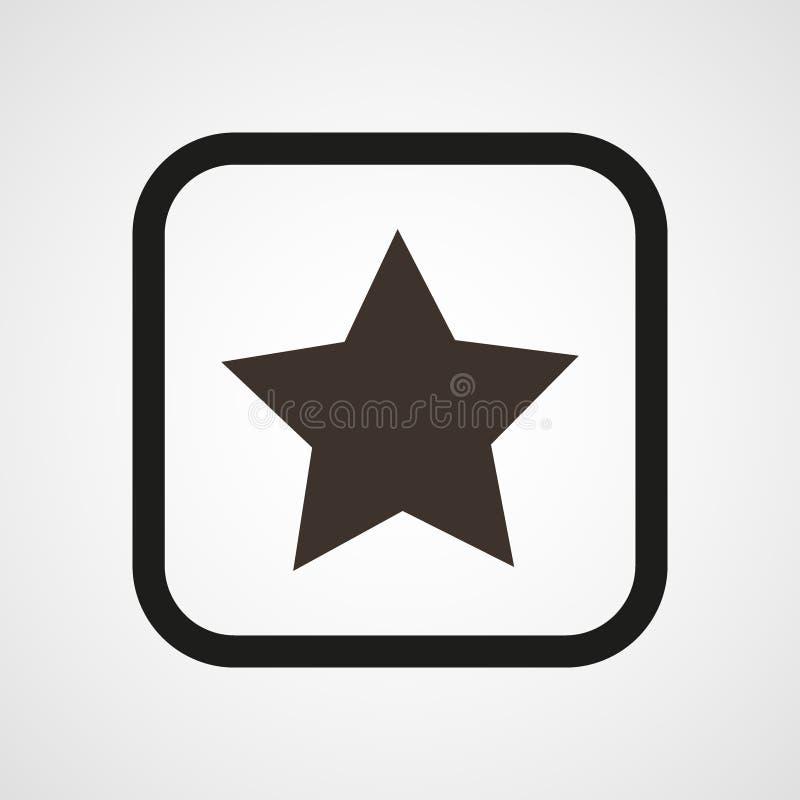 Иллюстрация вектора значка звезды плоская простая бесплатная иллюстрация