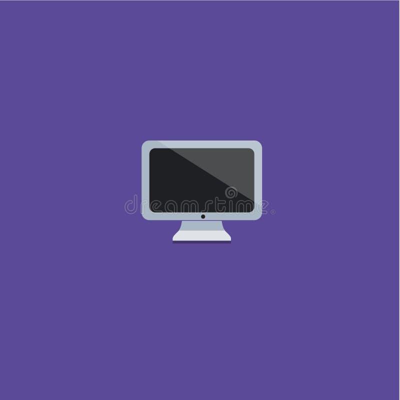 Иллюстрация вектора значка компьютера стоковые изображения rf