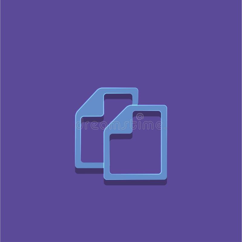 Иллюстрация вектора значка документа стоковое фото