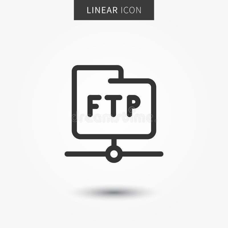Иллюстрация вектора значка папки FTP иллюстрация штока