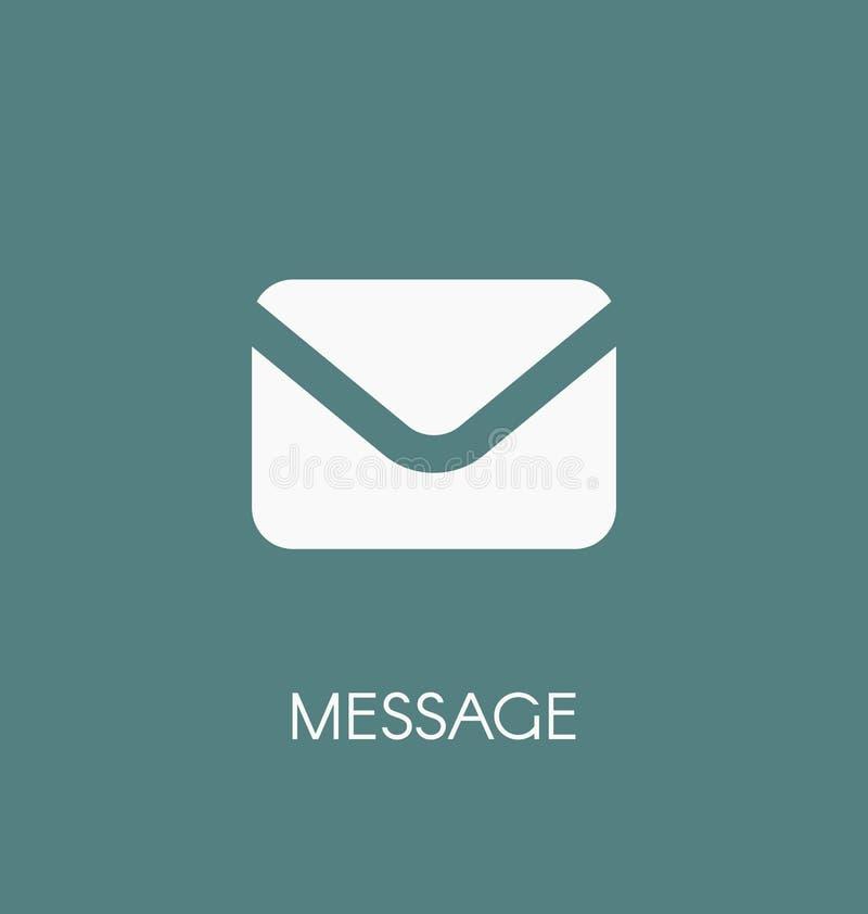 Иллюстрация вектора значка почты сообщения Символ конверта иллюстрация вектора