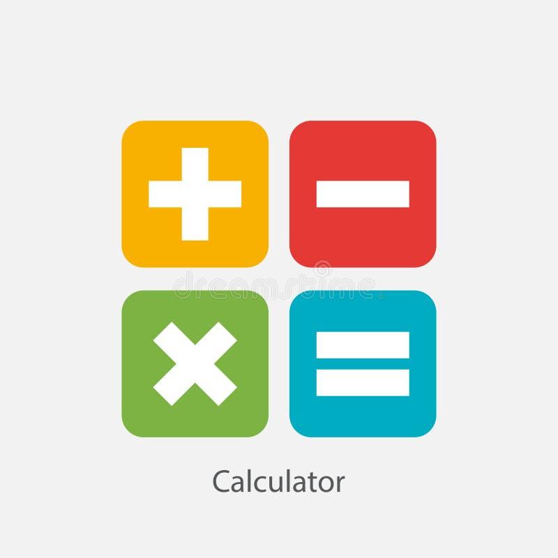 Иллюстрация вектора значка символа знака калькулятора иллюстрация штока