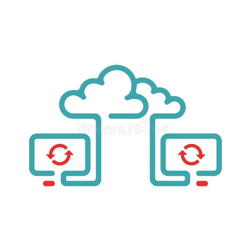 Иллюстрация вектора значка синхронизации облака иллюстрация штока
