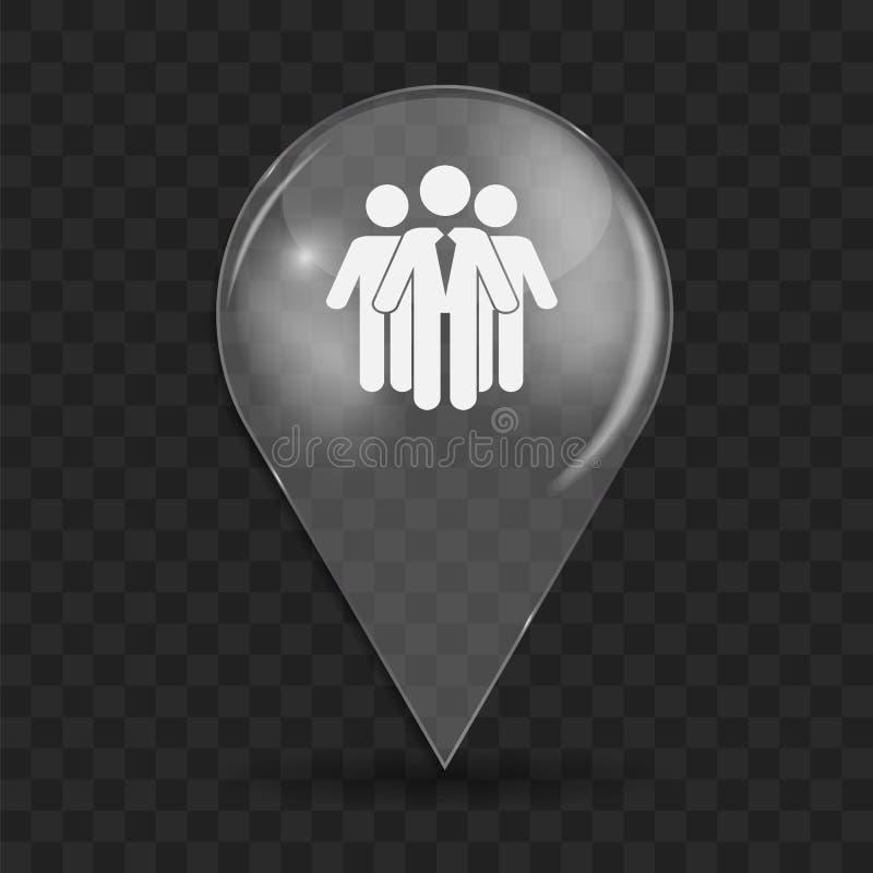 Иллюстрация вектора значка социальной сети лоснистая иллюстрация штока