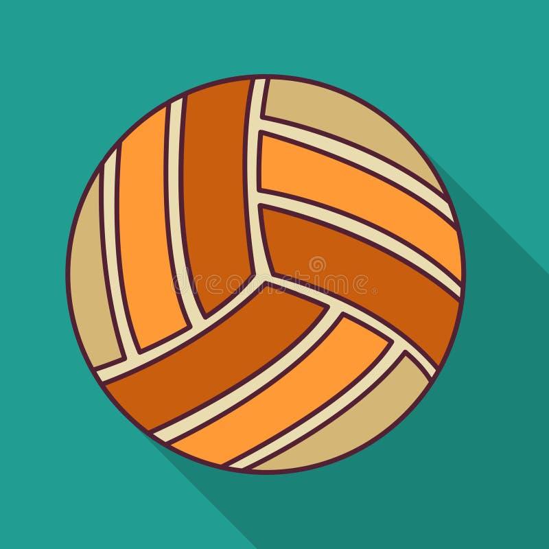 Иллюстрация вектора значка цвета шарика волейбола плоская стоковые изображения rf
