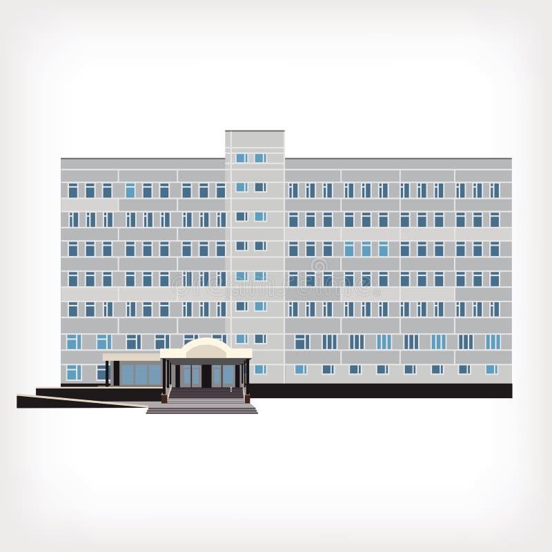 Иллюстрация вектора здания больницы иллюстрация вектора