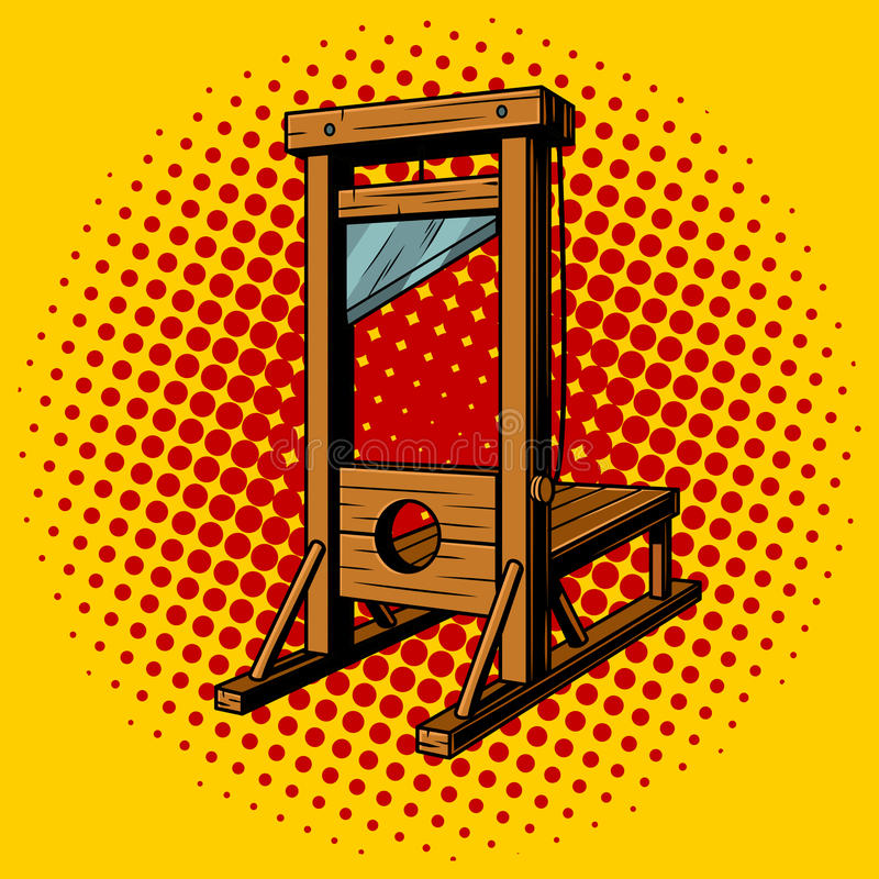 Иллюстрация вектора искусства шипучки гильотины иллюстрация штока