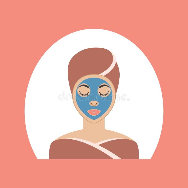 Иллюстрация вектора лицевого щитка гермошлема женщин иллюстрация вектора