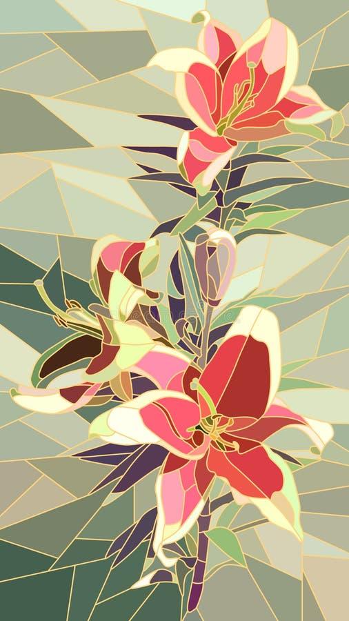 Иллюстрация вектора лилии цветков розовой бесплатная иллюстрация