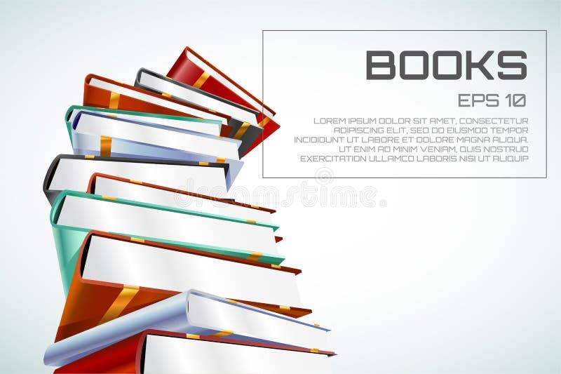Иллюстрация вектора книги 3d изолированная на белизне иллюстрация штока