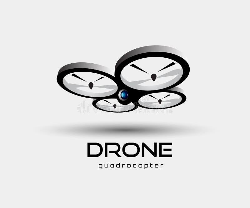 Иллюстрация вектора конспекта quadrocopter трутня