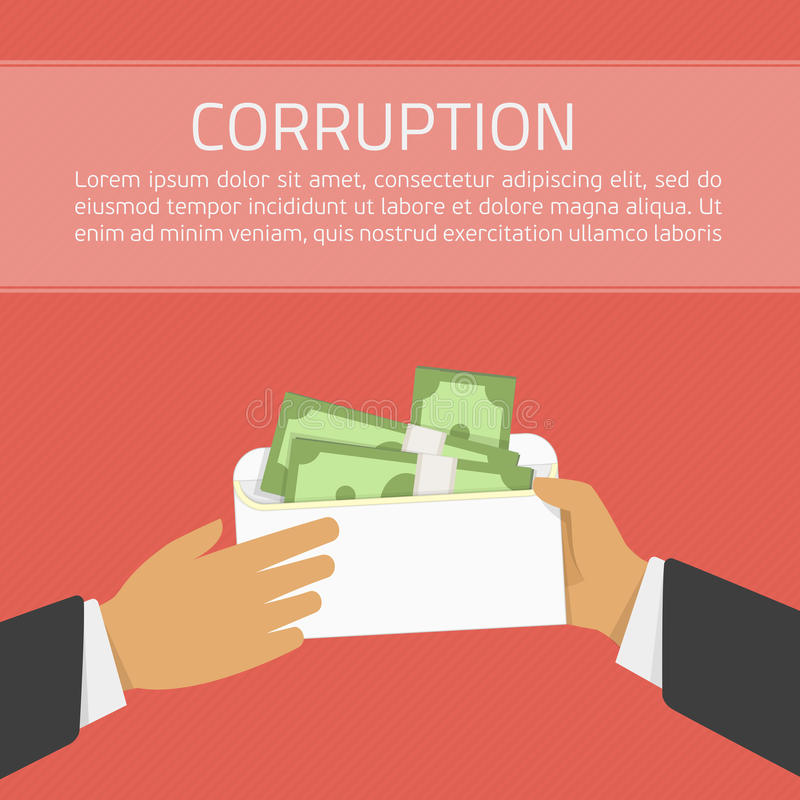 Иллюстрация вектора коррупции иллюстрация вектора