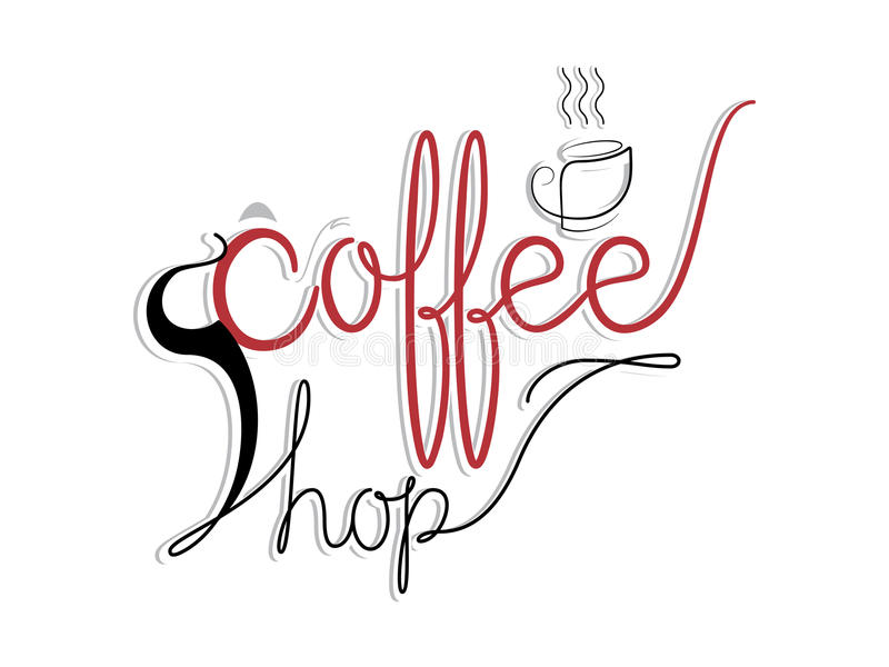 Иллюстрация вектора кофейни стоковые изображения