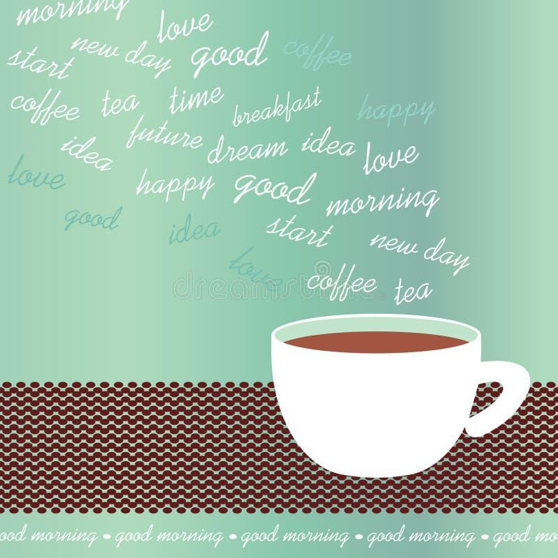 Иллюстрация вектора кофейной чашки утра бесплатная иллюстрация