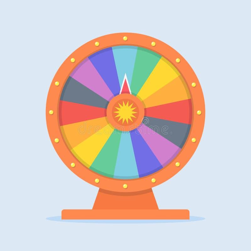 Иллюстрация вектора колеса фортуны иллюстрация штока