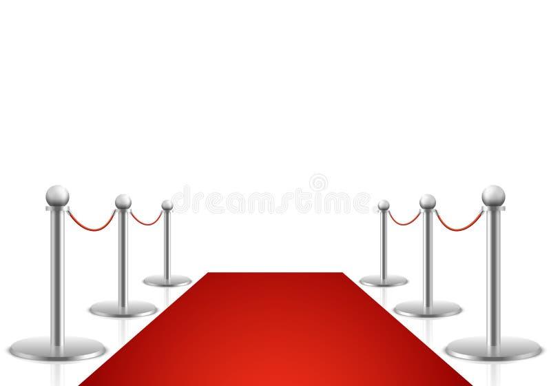 Иллюстрация вектора красного ковра Предпосылка выставки наград иллюстрация вектора