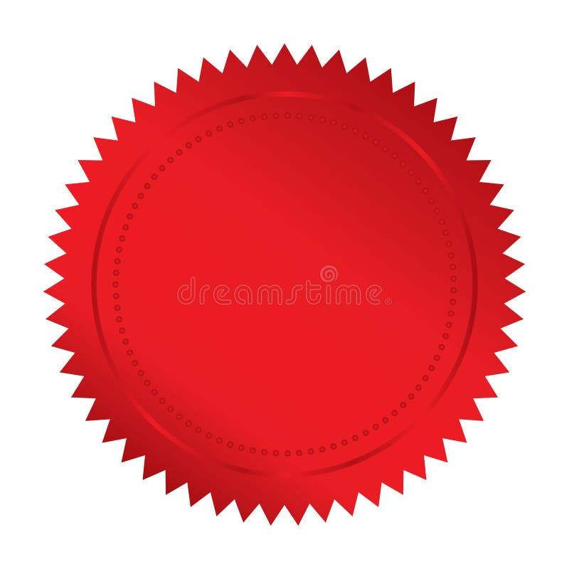 Красное уплотнение иллюстрация вектора