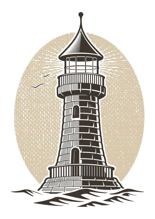Иллюстрация вектора маяка бесплатная иллюстрация