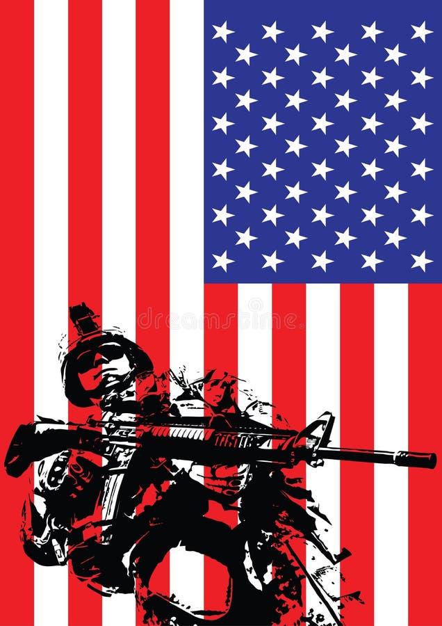 Иллюстрация вектора морского пехотинца США иллюстрация вектора