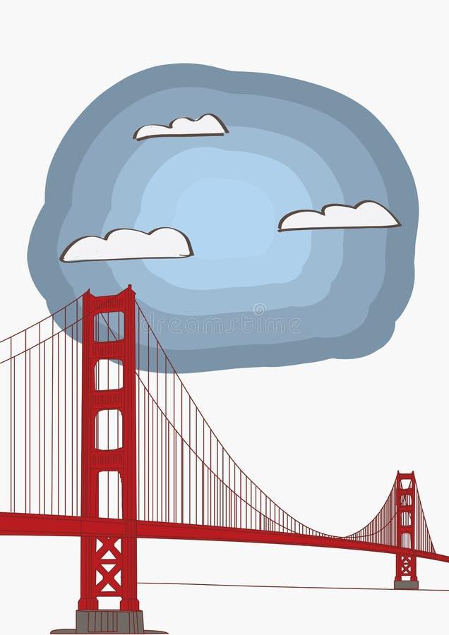 Иллюстрация вектора моста золотого строба иллюстрация вектора