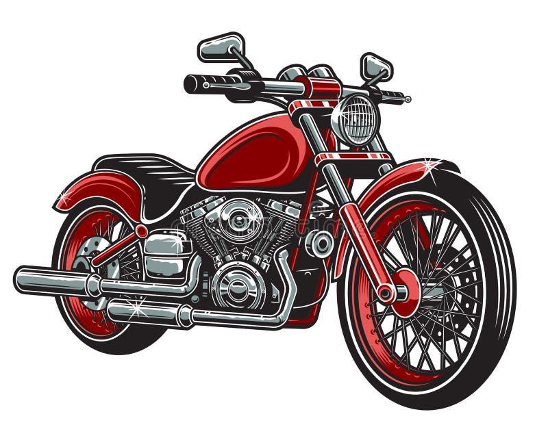 Иллюстрация вектора мотоцикла красного цвета иллюстрация вектора