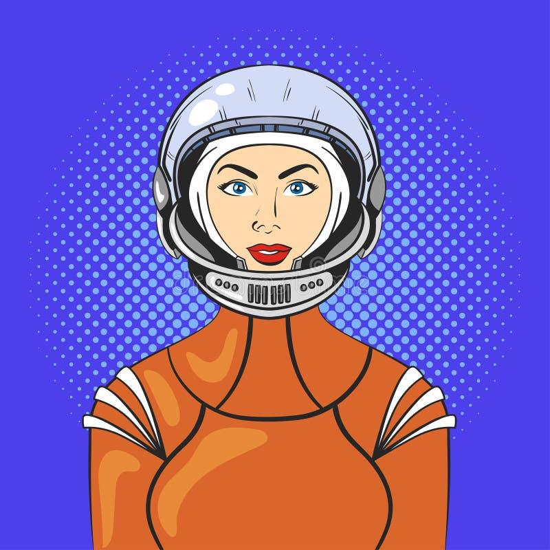 Иллюстрация вектора молодой женщины искусства шипучки красивой иллюстрация вектора