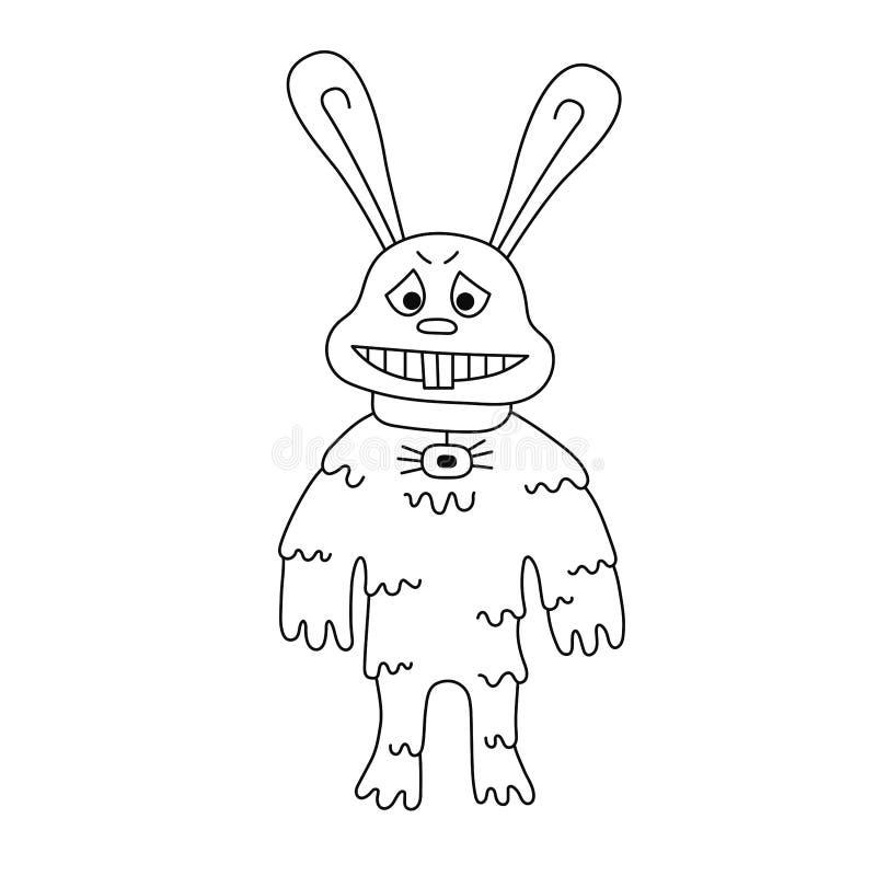 Иллюстрация вектора мутанта зайчика кролика иллюстрация вектора