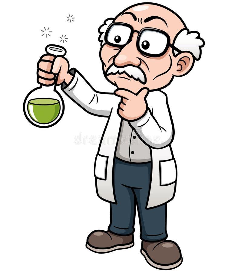 Научный работник шаржа иллюстрация штока