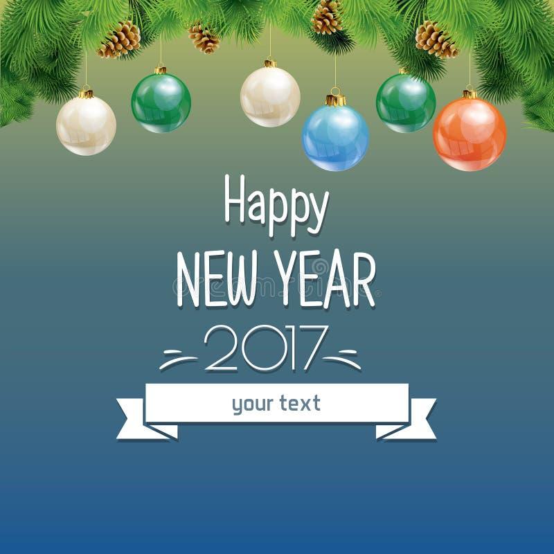 Иллюстрация вектора Нового Года и рождества бесплатная иллюстрация