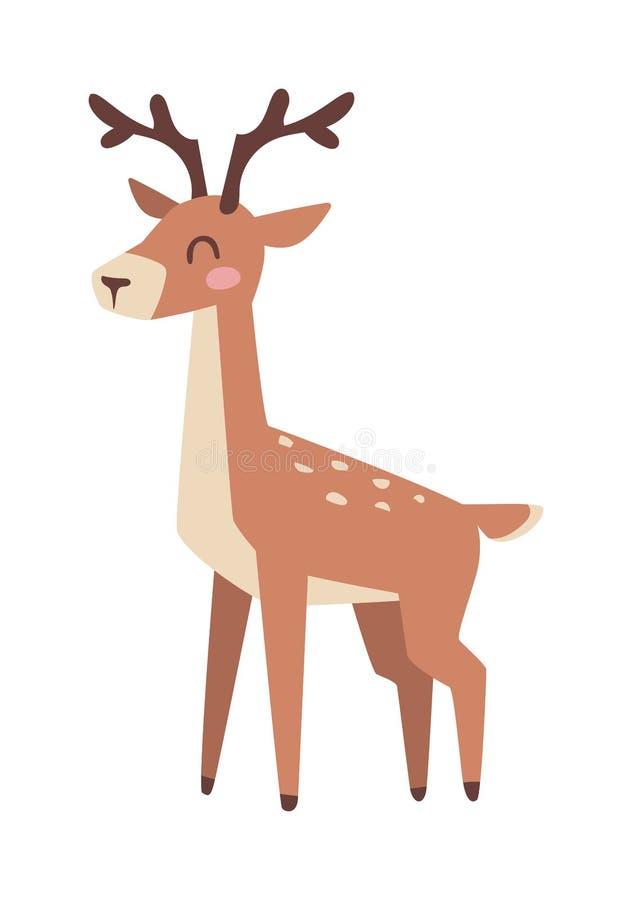 Иллюстрация вектора оленей шаржа иллюстрация вектора