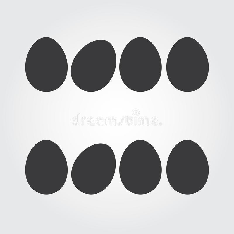 Иллюстрация вектора пасхальных яя бесплатная иллюстрация