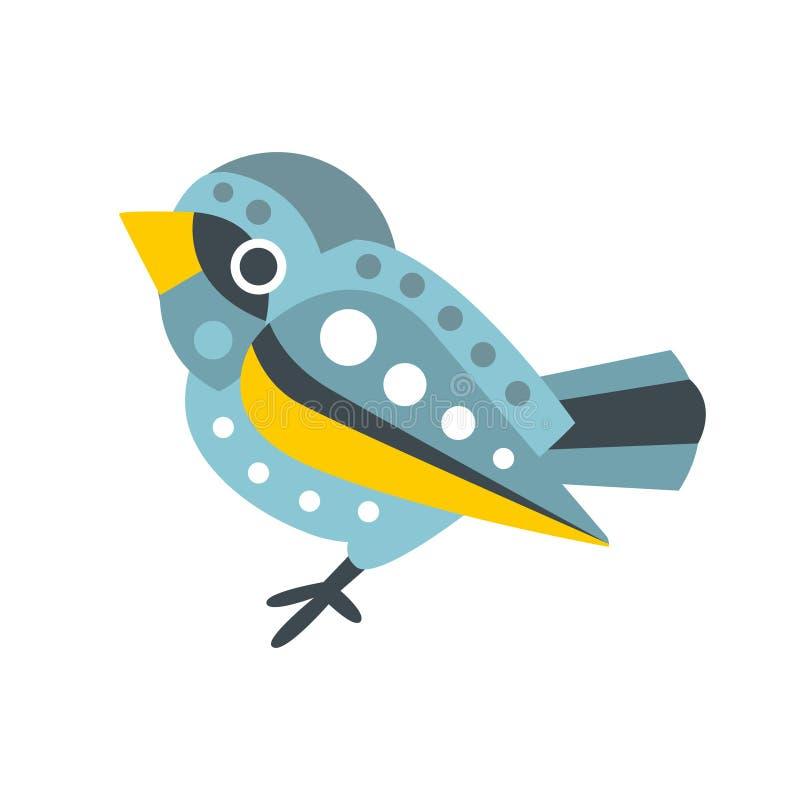 Иллюстрация вектора персонажа из мультфильма милой малой птицы воробья красочная бесплатная иллюстрация