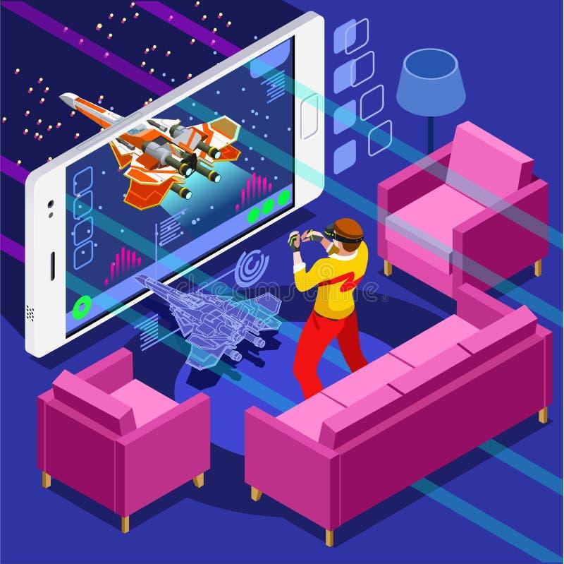 Иллюстрация вектора персоны видео- игры компютерной игры равновеликая бесплатная иллюстрация