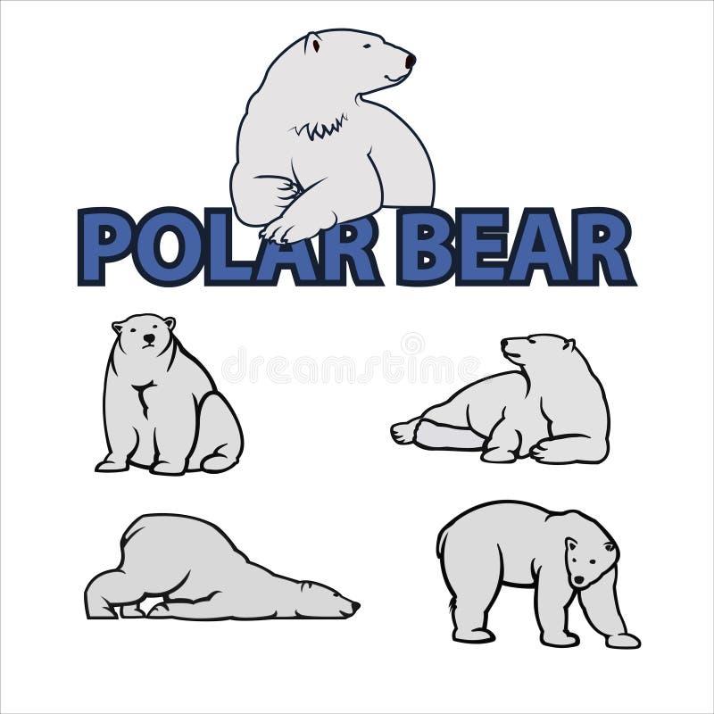 Иллюстрация вектора полярного медведя стоковые изображения