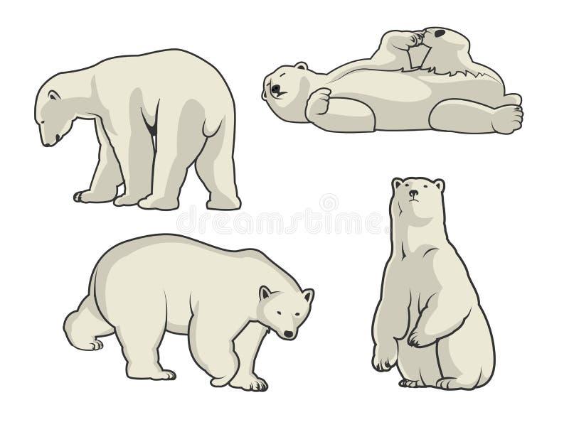 Иллюстрация вектора полярного медведя стоковые изображения rf