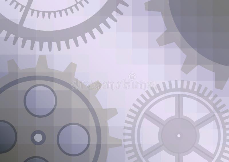 Иллюстрация вектора предпосылки конспекта колеса шестерни Прозрачное знамя с clockwork EPS10 иллюстрация штока