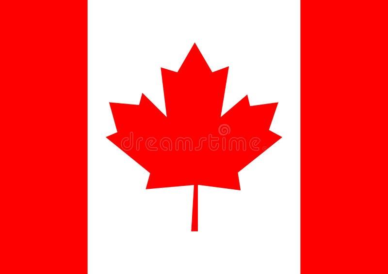 Иллюстрация вектора предпосылки флага Канады стоковые изображения rf