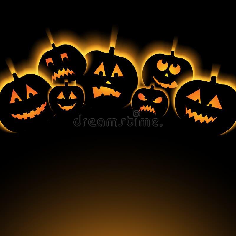 Иллюстрация вектора предпосылки хеллоуина с тыквой иллюстрация штока