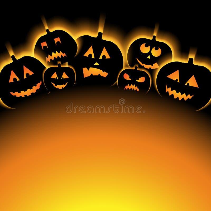 Иллюстрация вектора предпосылки хеллоуина с тыквой бесплатная иллюстрация