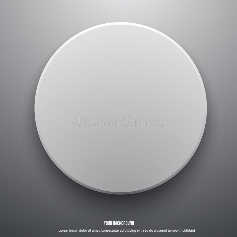 Иллюстрация вектора примечаний круга белой бумаги иллюстрация штока