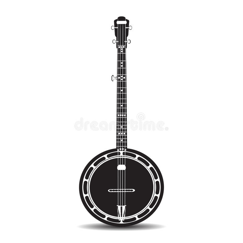 Иллюстрация вектора плоская банджо, музыкального инструмента бесплатная иллюстрация