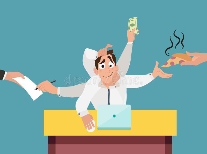 Иллюстрация вектора работы стресса работы офиса иллюстрация вектора