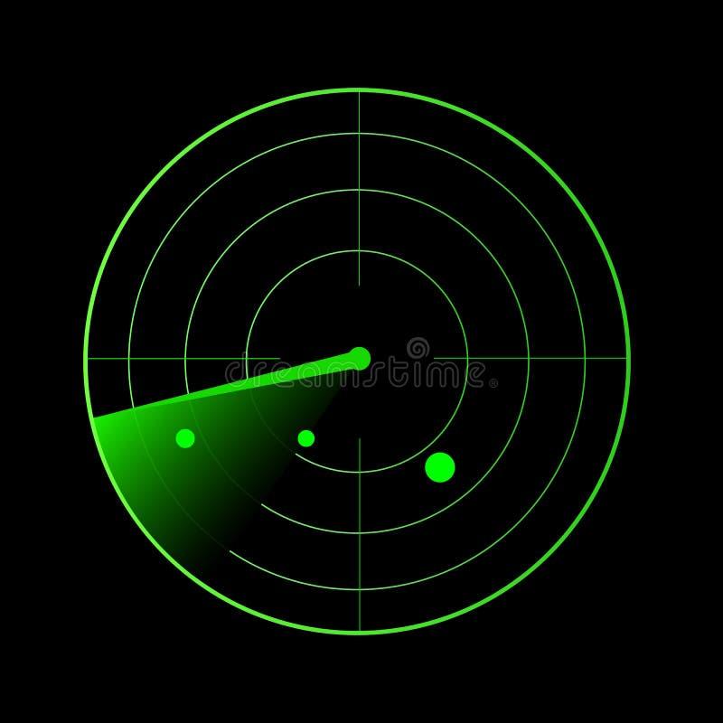 Иллюстрация вектора радиолокатора иллюстрация штока