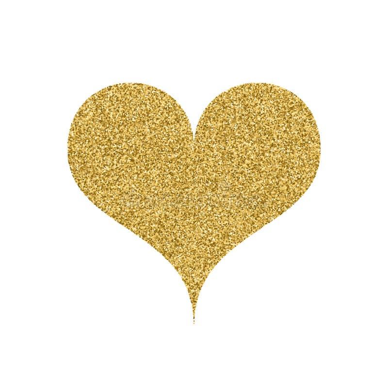 Иллюстрация вектора сердца золота иллюстрация штока