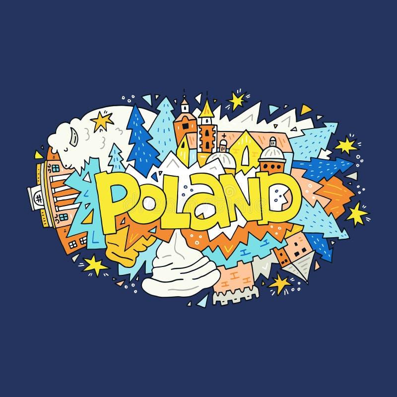 Иллюстрация вектора символов Польши иллюстрация штока