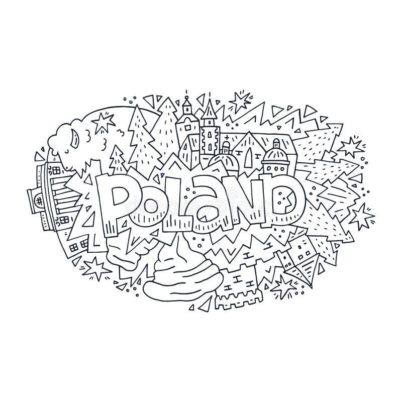 Иллюстрация вектора символов Польши иллюстрация вектора